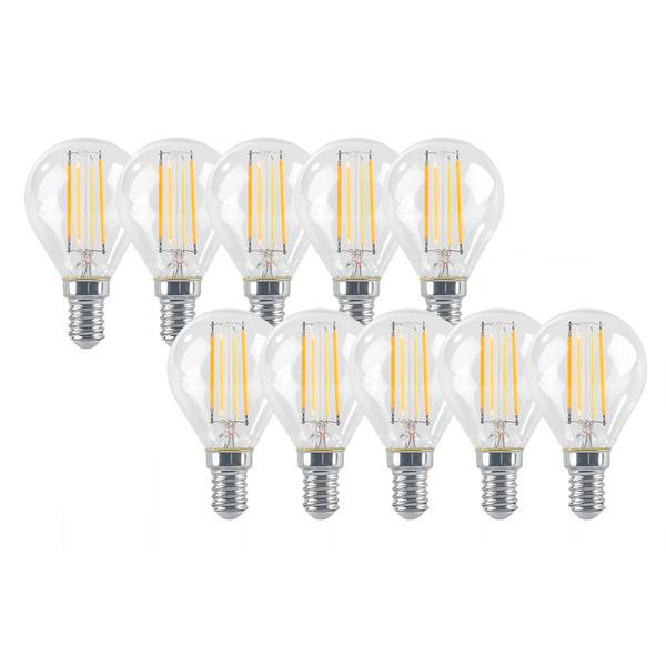 ELV 10er Set FL PREMIUM P40 5-W-LED-Tropfenlampe E14, warmweiß