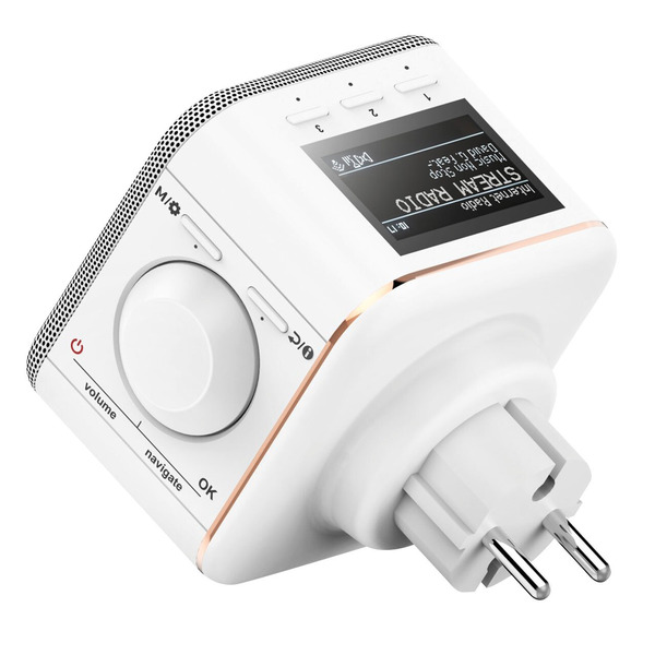 hama WiFi-Steckdosen-Radio IR40MBT-PlugIn, Internetradio, DLNA, Bluetooth, Multiroom, 3-W-RMS