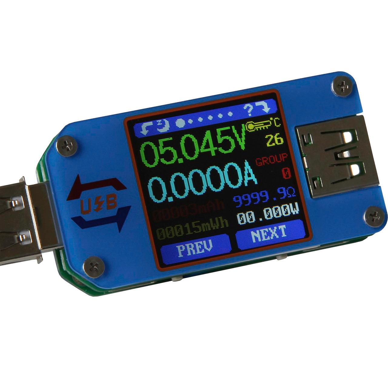 Joy-IT USB-Messgerät UM25C für Strom- Spannung- Energie- Leistung- Innenwiderstand