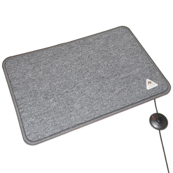 A.Rak Wärmetechnik 100-W-Heizteppich, 50 x 70 cm, 2 m Zuleitung mit Fußschalter, anthrazit