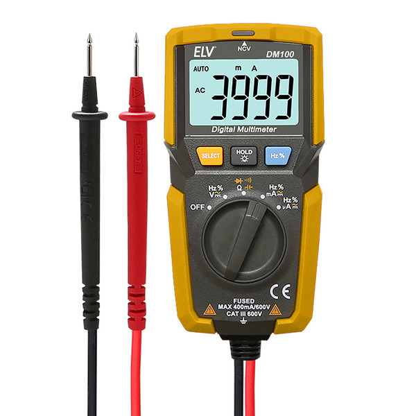 ELV digitales Pocket-Multimeter DM100, inkl. berührungsloser Spannungsprüfer