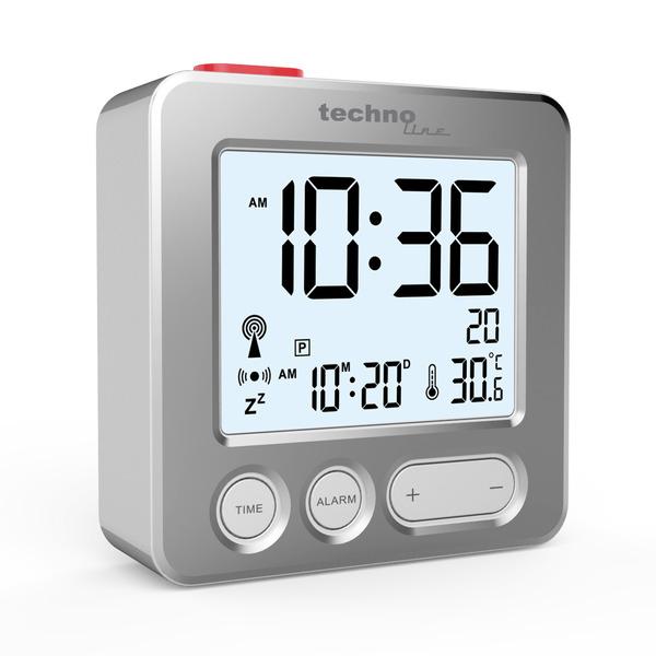 technoline Funkwecker mit Touch-Snooze, Display-Beleuchtung, kompakte Abmessungen
