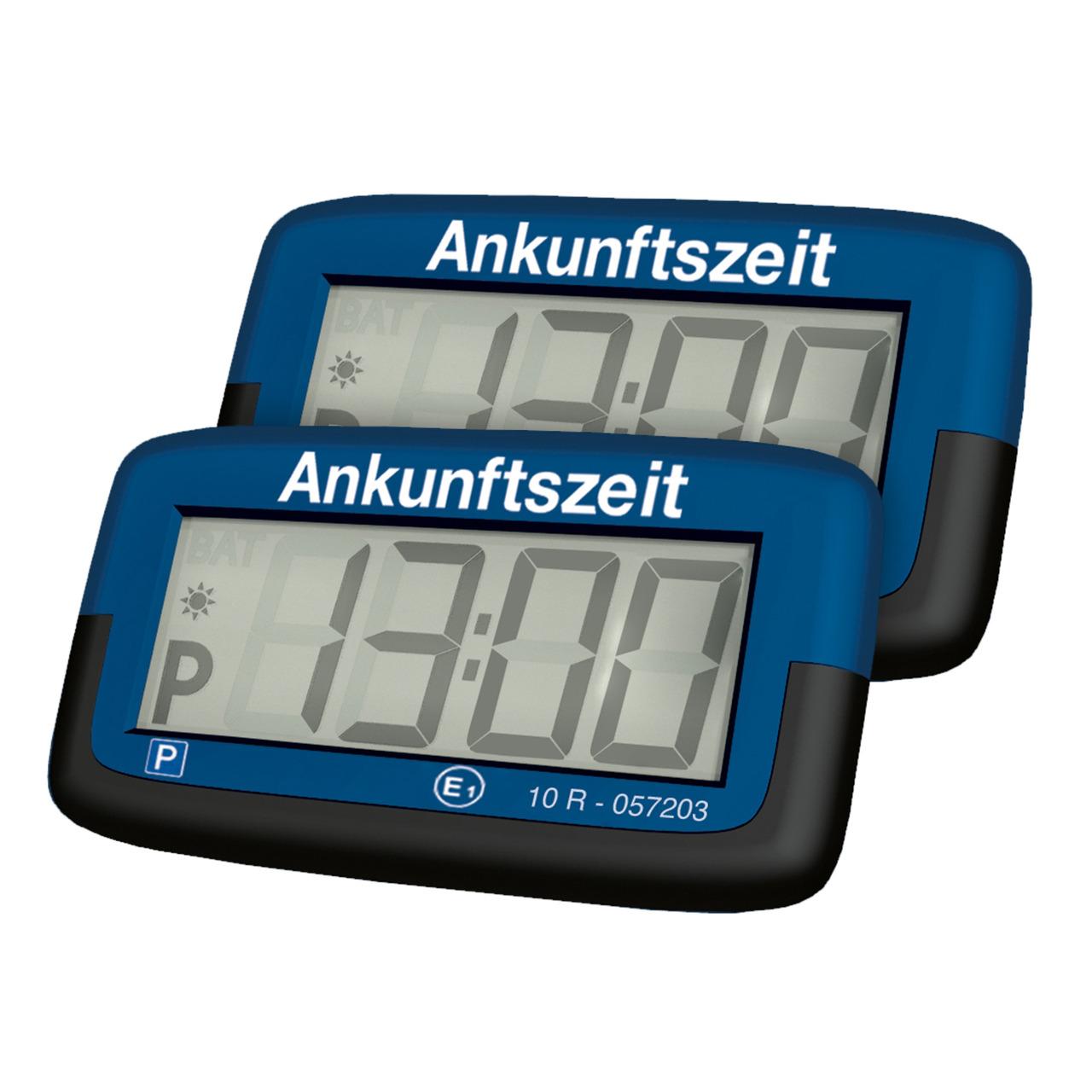 Needit 2er-Spar-Set Digitale Parkscheibe PARK MICRO- automatische Parkzeiteinstellung- blau
