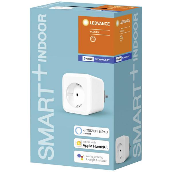 Ledvance SMART+ Bluetooth-Schaltsteckdose, 3680 W, kompatibel mit Apple HomeKit