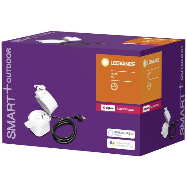 Ledvance SMART+ Außensteckdose, IP44, ZigBee, mit Deckel und 1,5 m Anschlussleitung