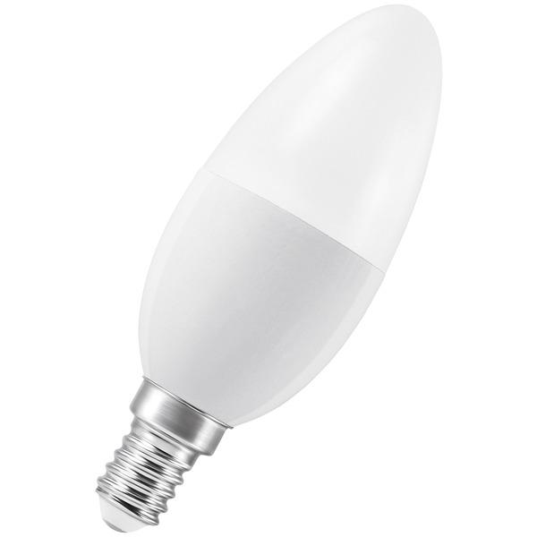 Ledvance SMART+ 6-W-LED-Kerzenlampe E14, dimmbar, ZigBee, Sprachsteuerung möglich