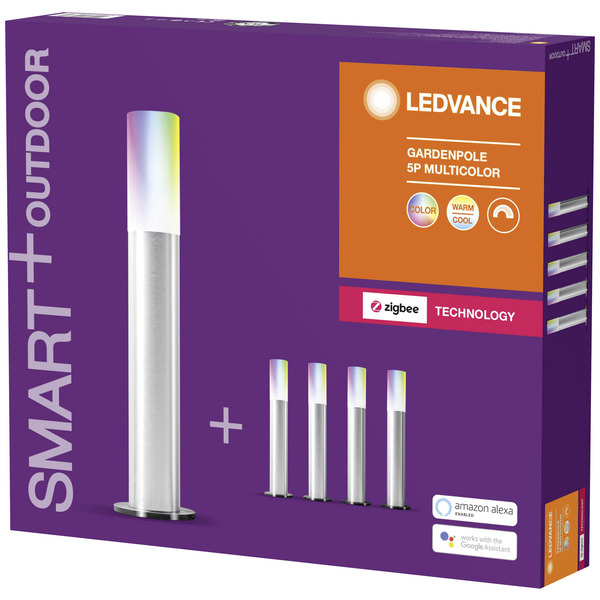 Ledvance SMART+ 14-m-RGB-LED-Lichterkette mit 5 Gardenpoles, ZigBee