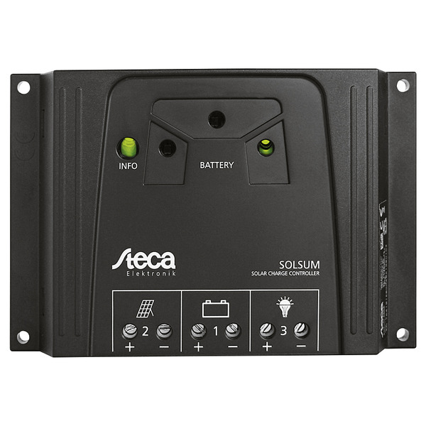 Steca Elektronik Solarladeregler 6.6F 12/24V, 6A, LED-Anzeige