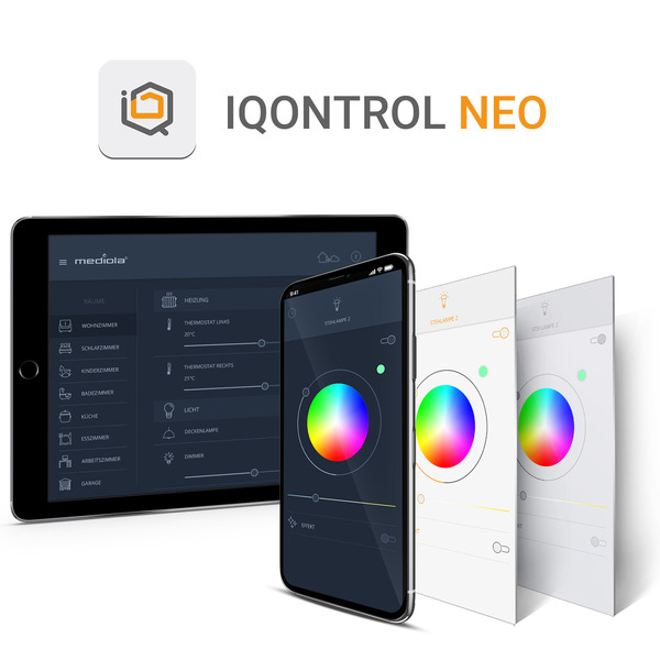 mediola AIO Gateway V6, inkl. IQONTROL NEO-App für z.B. Homematic IP, Homematic und FS20