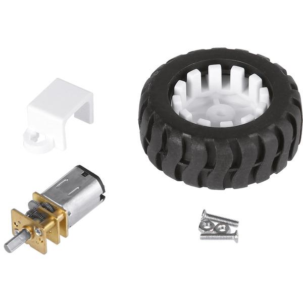 JOY-iT Getriebemotor com-motor03 mit Rad, ca. 300 min-1 bei 6 V