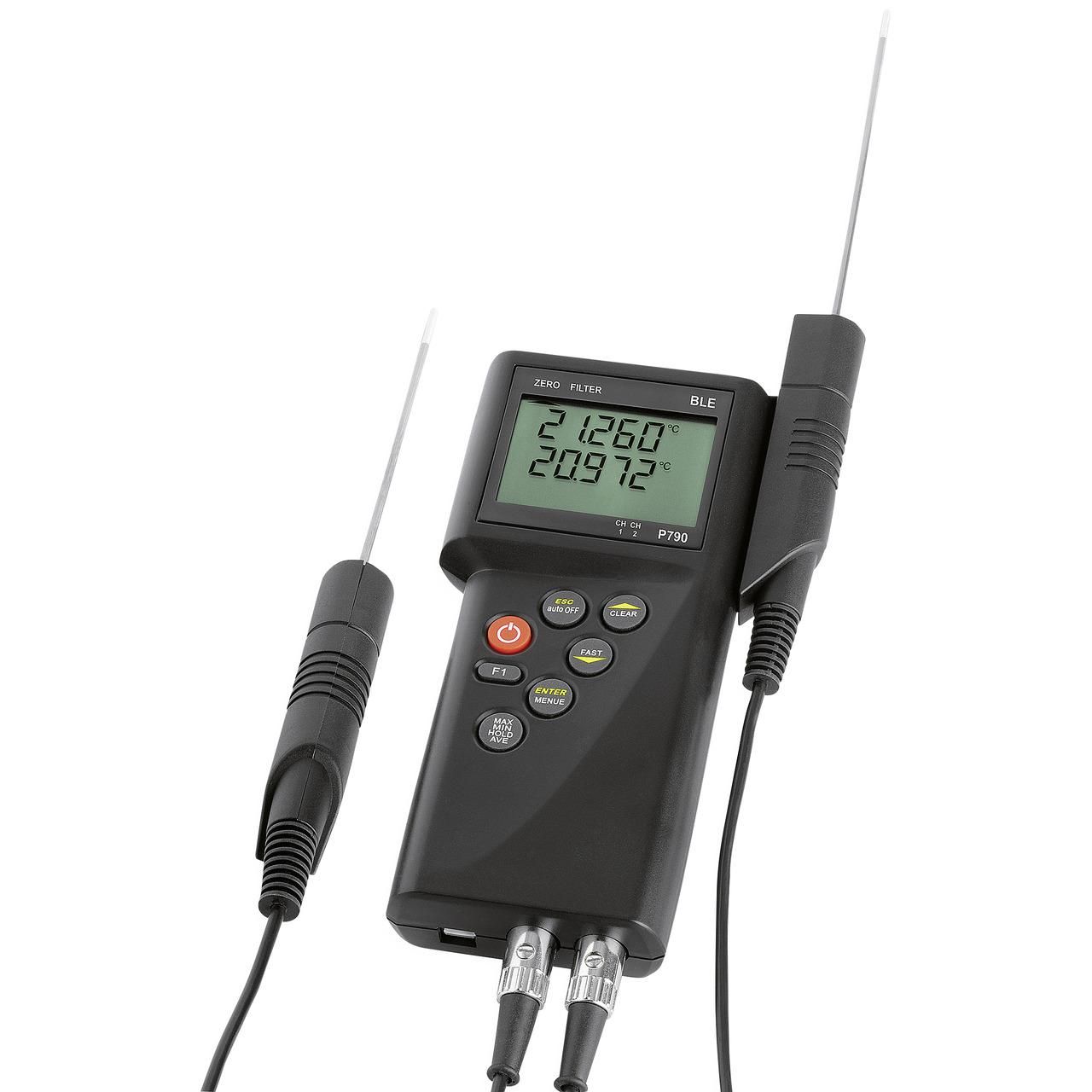 Dostmann electronic Präzisionshandmessgeräteset P790 mit Tauchfühler