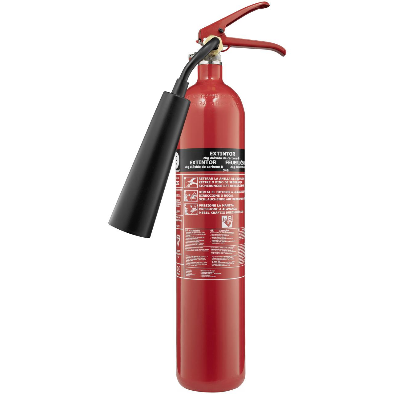 Smartwares CO2-Feuerlöscher CB2- Brandklasse B- 2 kg