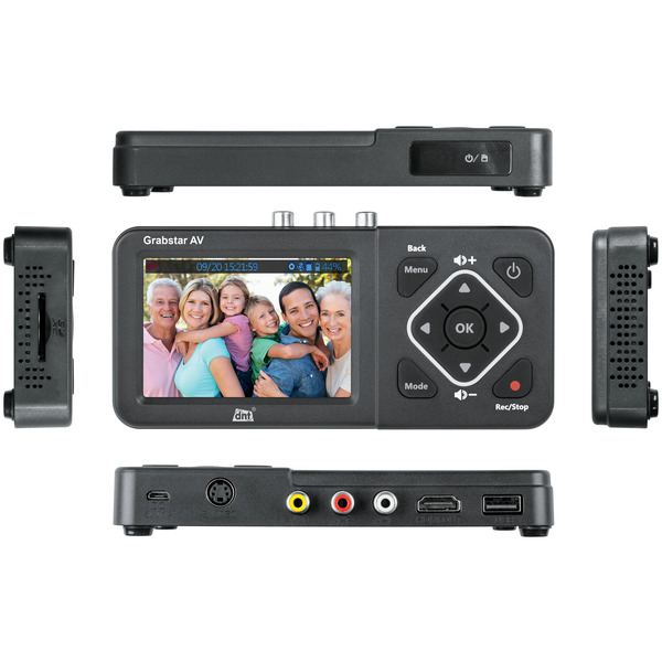 "dnt Video-Digitalisierer Grabstar AV, 8,9-cm-LC-Display (3,5""), S-Video, speichert auf USB/SD-Medien"