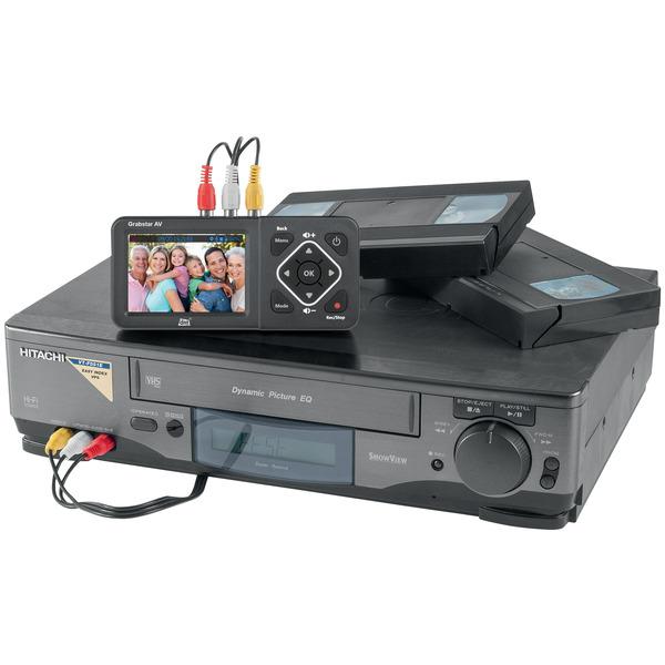 "dnt Video-Digitalisierer Grabstar AV, 8,9-cm-LC-Display (3,5""), S-Video, speichert auf USB/SD-Medien"