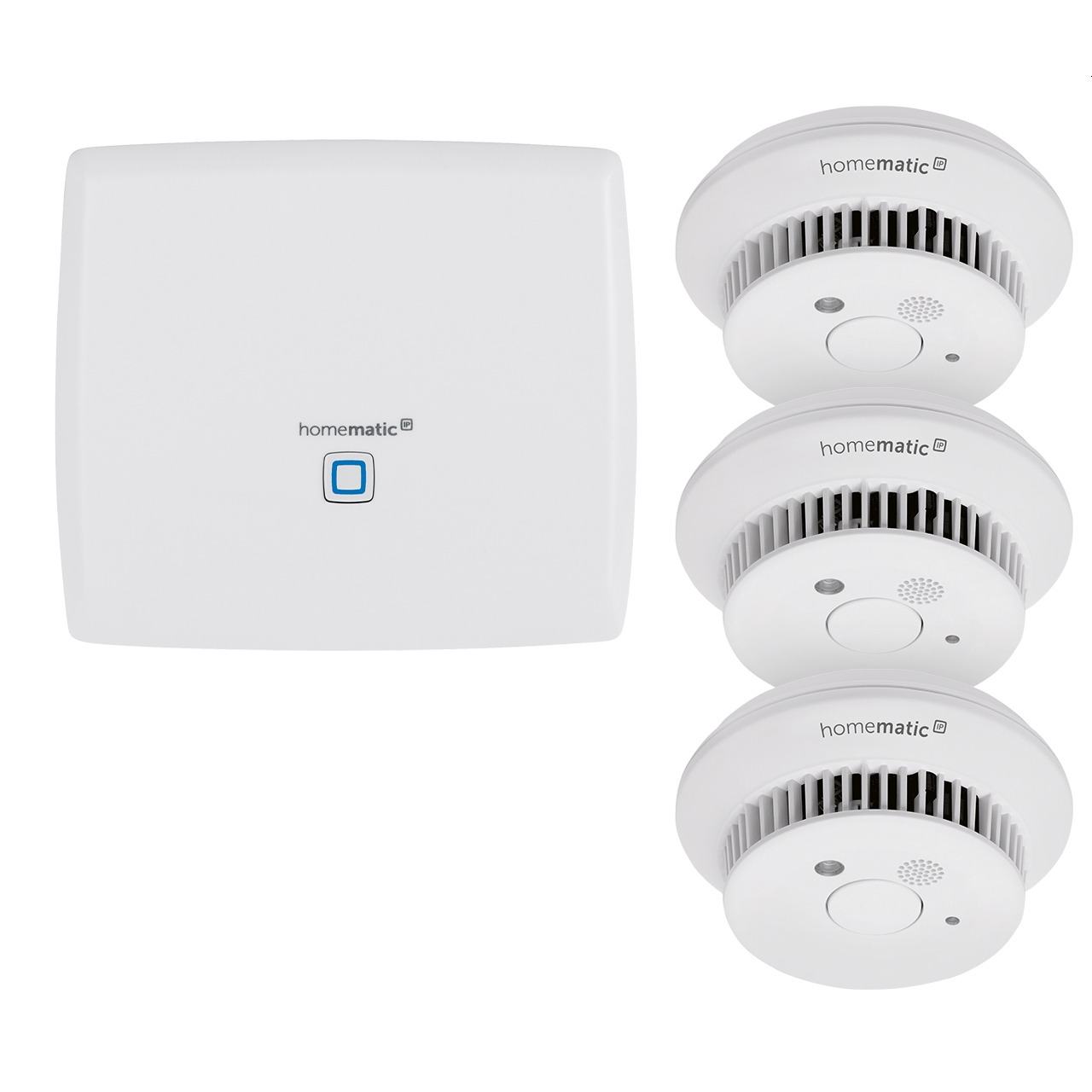 Homematic IP Starter Set mit Smart Home Zentrale CCU3 und 3x Rauchwarnmelder HmIP-SWSD