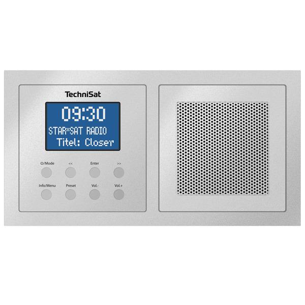 TechniSat Unterputzradio DigitRadio UP 1, DAB+/UKW-Radio, Bluetooth, mit Lautsprecher, silber