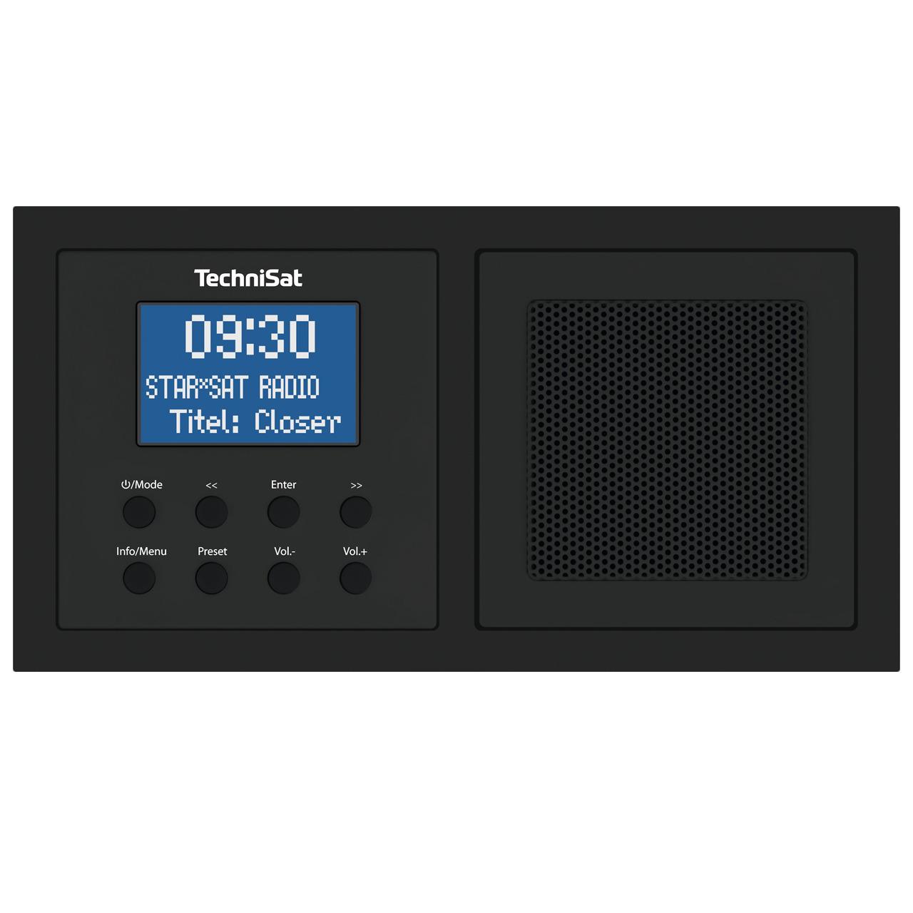 TechniSat Unterputzradio DigitRadio UP 1- DAB+-UKW-Radio- Bluetooth- mit Lautsprecher- schwarz