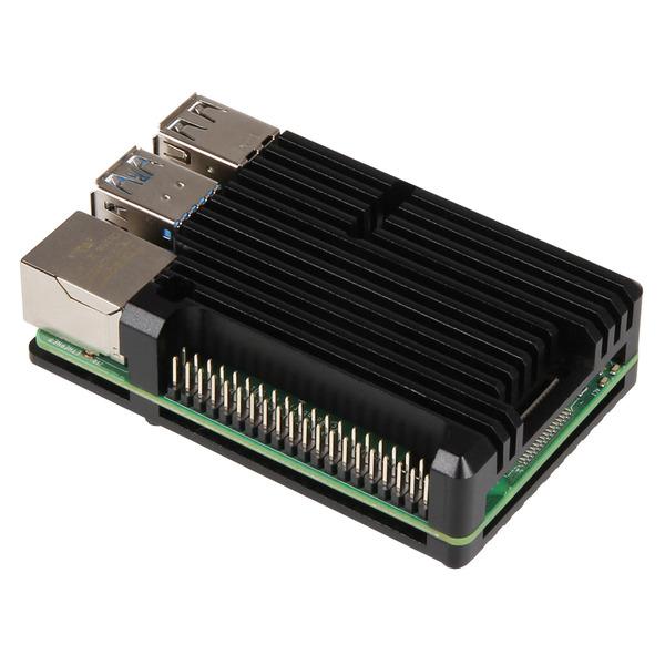 """Joy-IT Armor Gehäuse """"Block"""" für Raspberry Pi 4, Schutz und Kühlung zugleich"""