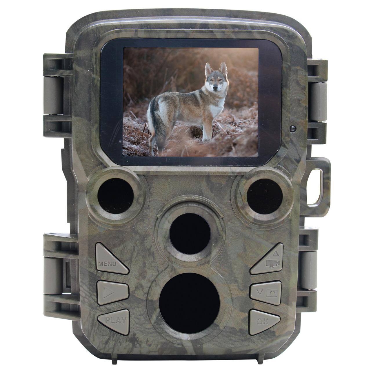 Braun Mini-Fotofalle - Wildkamera Scouting Cam BLACK500 Mini- 16 MP- 1080p- IP56- Auslösezeit 0-45s