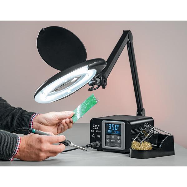 ELV Lötstation LS-180D+ mit 180 W Leistung, ESD-gerecht, Touchbedienung