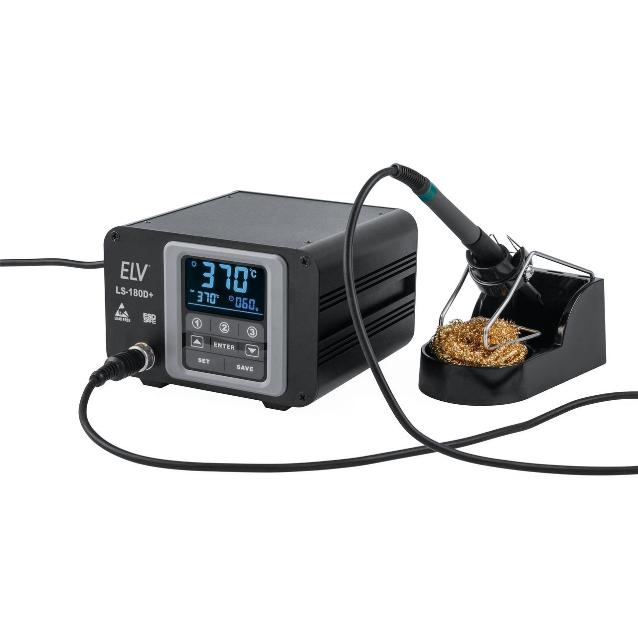 ELV Lötstation LS-180D+ mit 180 W Leistung- ESD-gerecht- Touchbedienung