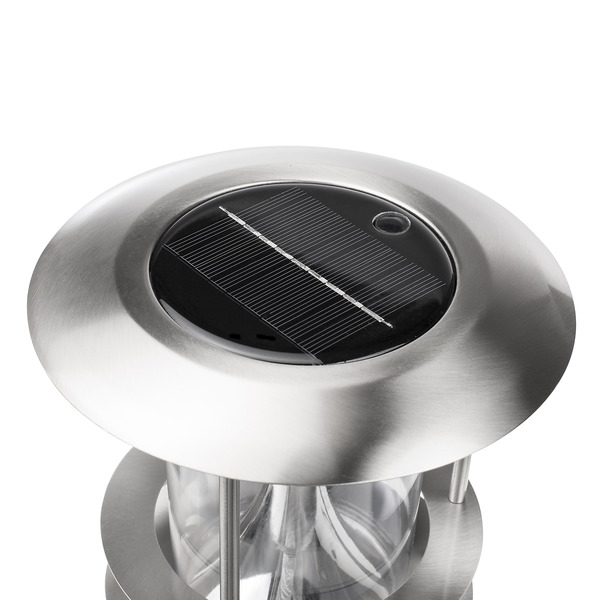 Smartwares Solar-Erdspießleuchte GWS-179-MS mit Bewegungsmelder, Edelstahl, IP44