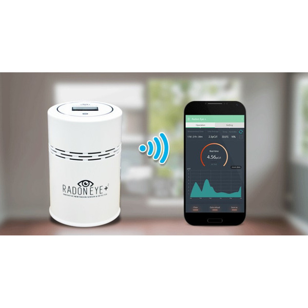 FTLAB Radonmonitor RadonEye PLUS²  (RD200P2), Bluetooth/WLAN, App-Steuerung, Cloud, Amazon Alexa