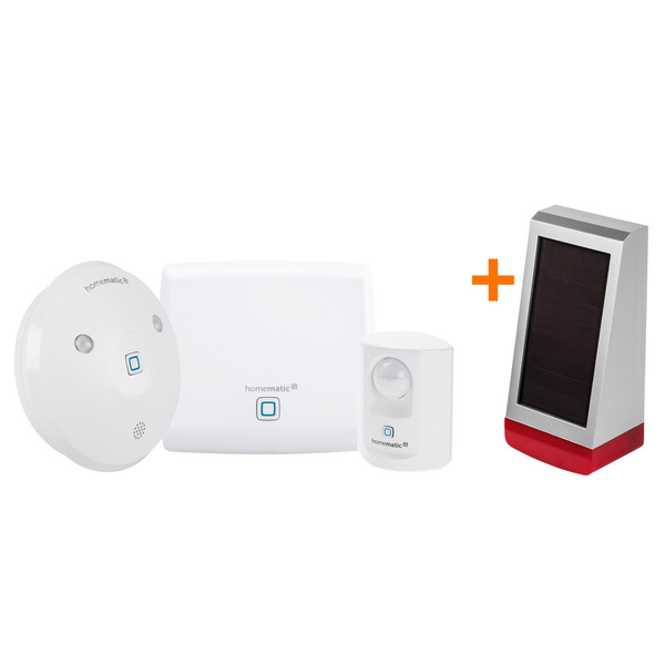 Homematic IP Starter Set Sicherheit  + Homematic IP Alarmsirene HmIP-ASIR-O, außen