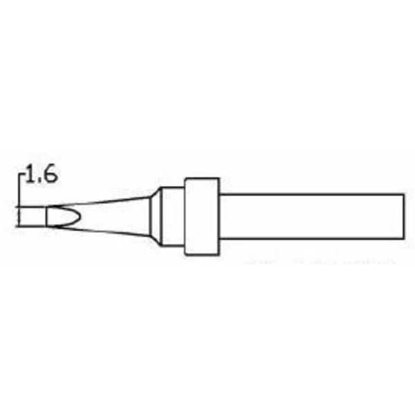 ELV Ersatzlötspitze D = 1,6 mm, meißelförmig, beidseitig angeschrägt