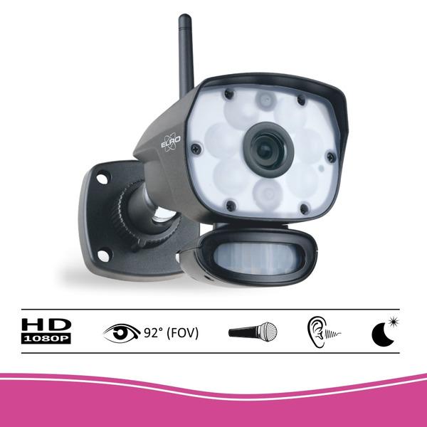 ELRO Funk-Zusatzkamera CC60RXX11, Full-HD (1080p) - geeignet für Funk-Kamerasystem CZ60RIP11S