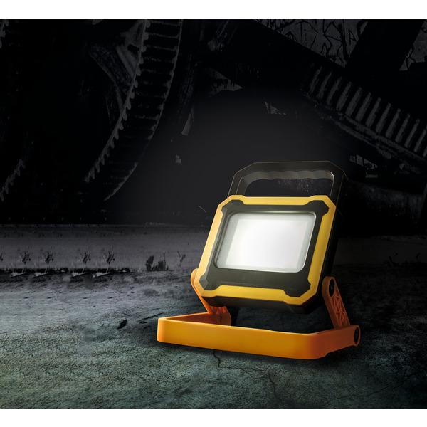 HEITRONIC 10-W-Akku-LED-Fluter NEWPORT, mit integrierter Powerbank, 4000 K, zusammenklappbar