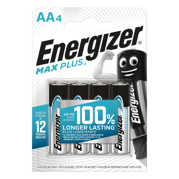 Energizer-Alkaline-Batterien Max Plus Mignon (AA), 4 Stück
