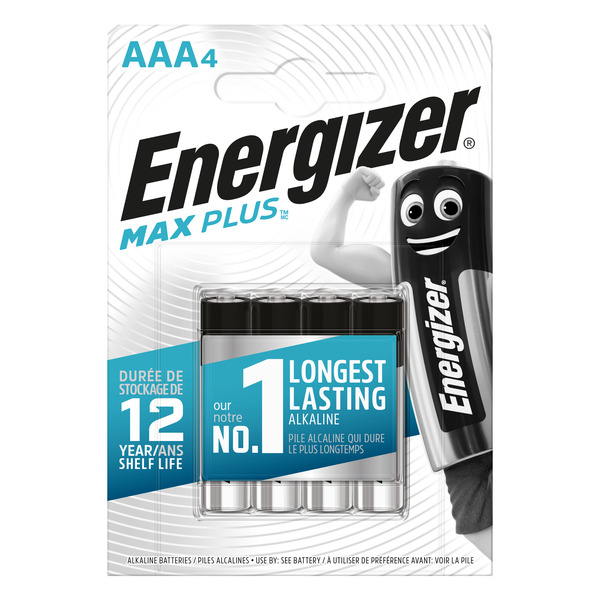 Energizer-Alkaline-Batterien Max Plus Micro (AAA), 4 Stück