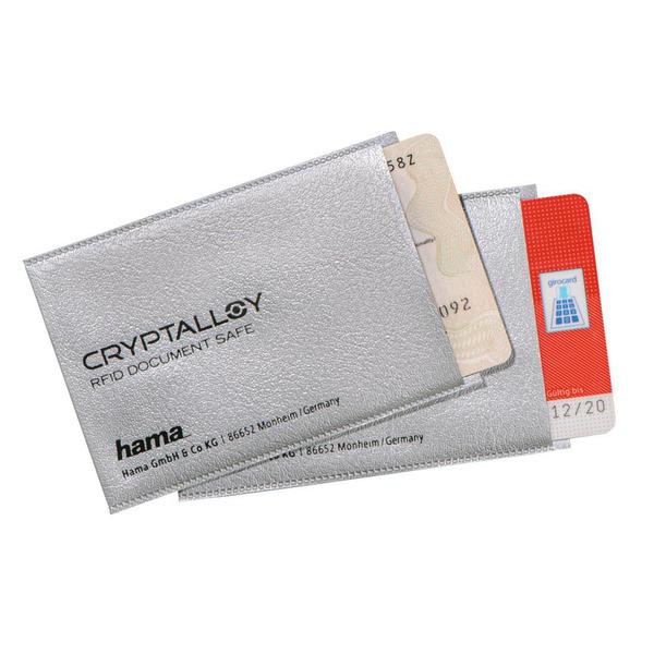 2er-Set Hama-RFID-/NFC-Schutzhüllen für EC-, Kredit-, Zutrittskarten und Personalausweis