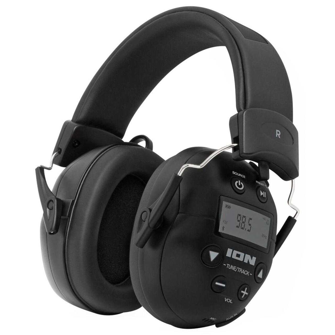 ION Audio Kapselgehörschutz-Kopfhörer Tough Sounds 2- Bluetooth- Radio- Akku- 27 dB NRR