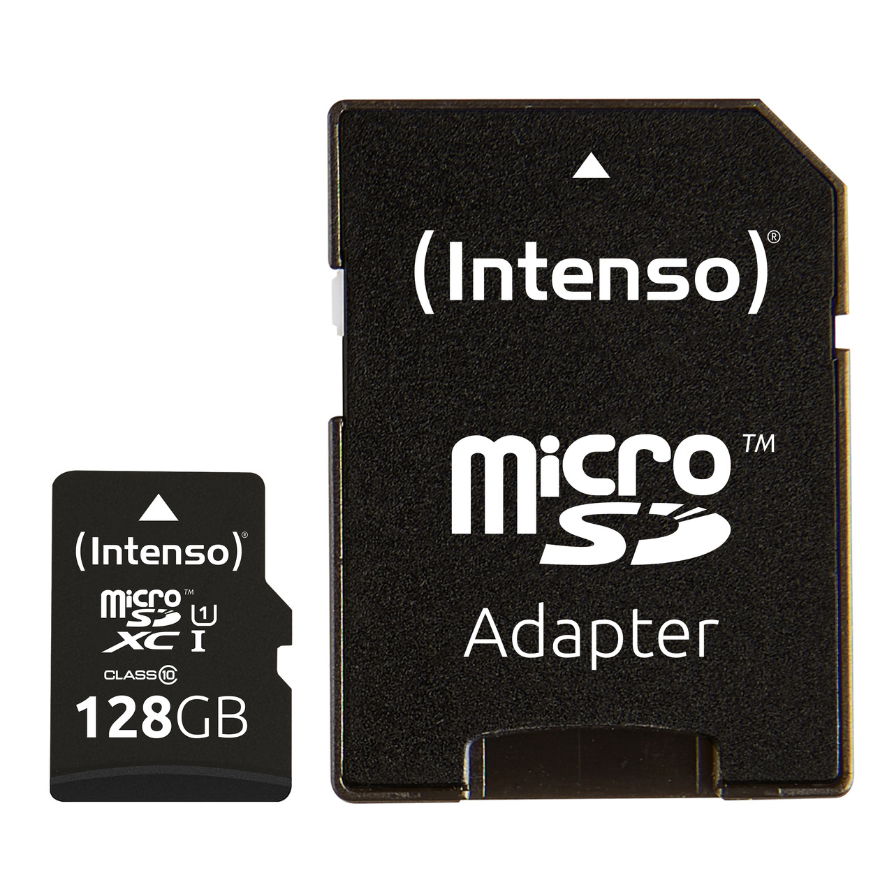 Intenso microSDXC-Karte UHS-I Premium- Class 10- mit SD-Adapter- 45 MB-s- 128 GB