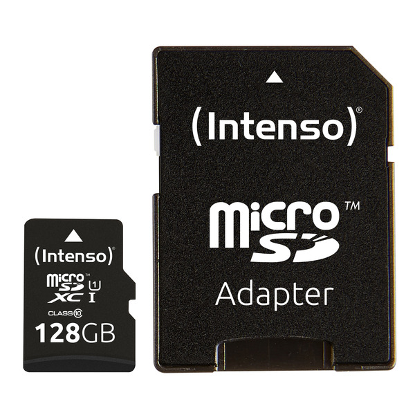 Intenso microSDXC-Karte UHS-I Premium, Class 10, mit SD-Adapter, 45 MB/s, 128 GB