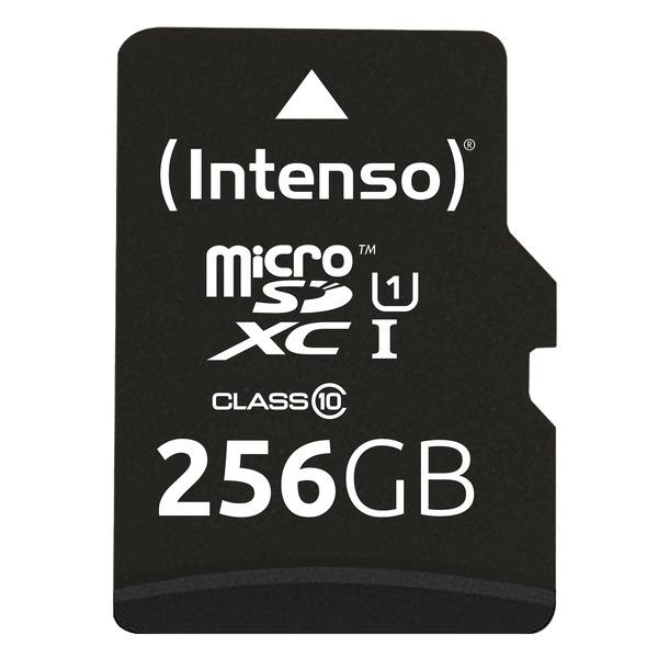 Intenso microSDXC-Karte UHS-I Premium, Class 10, mit SD-Adapter, 45 MB/S, 256 GB