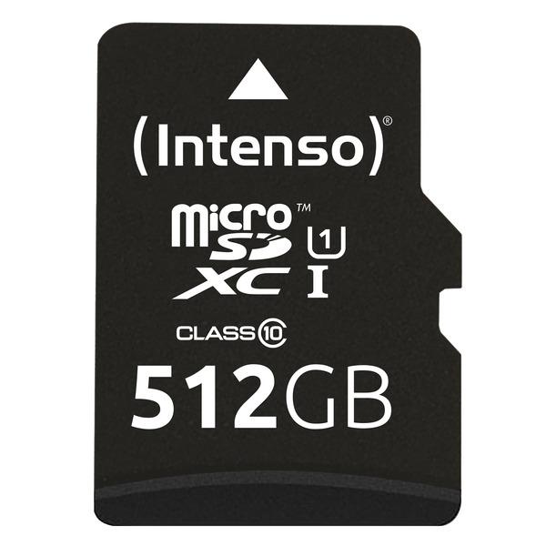 Intenso microSDXC-Karte UHS-I Premium, Class 10, mit SD-Adapter, 45 MB/s, 512 GB