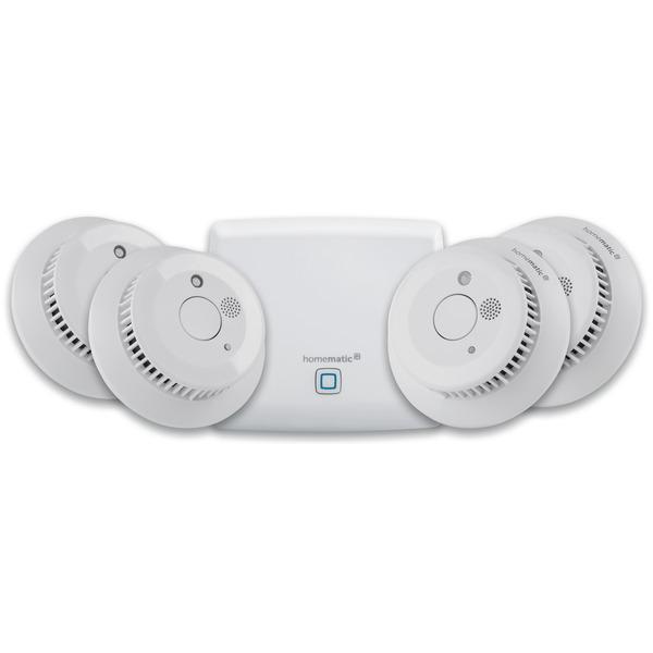 Homematic IP Smart Home Set mit Access Point und 4x Rauchwarnmeldern