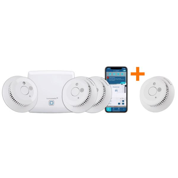 Homematic IP Smart Home Starter Set Rauchwarnmelder mit zusätzlichem Rauchwarnmeldern