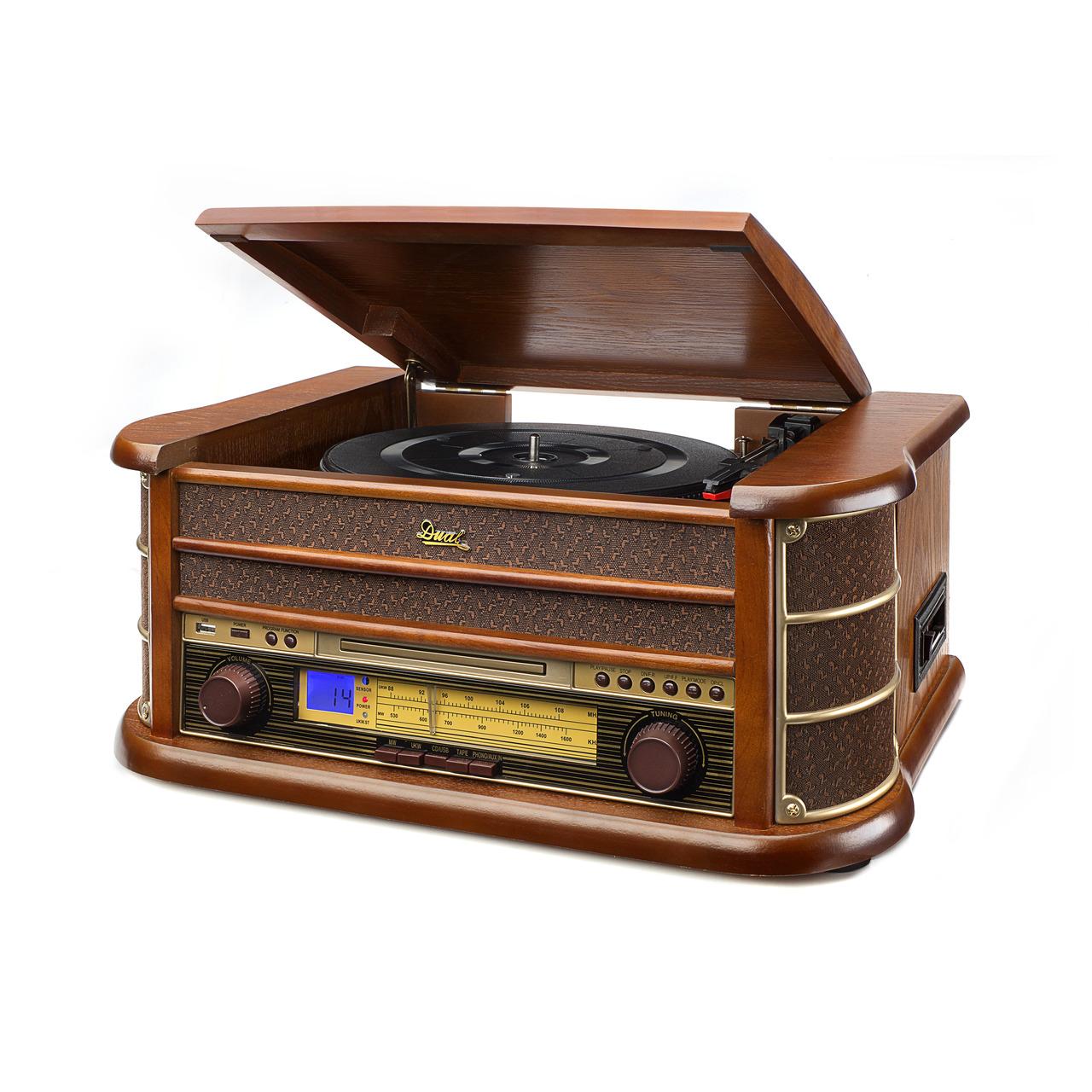 Dual Nostalgie-Stereo-Musikcenter NR 4- UKW-Radio- USB- CD-Player- Kassettenlaufwerk