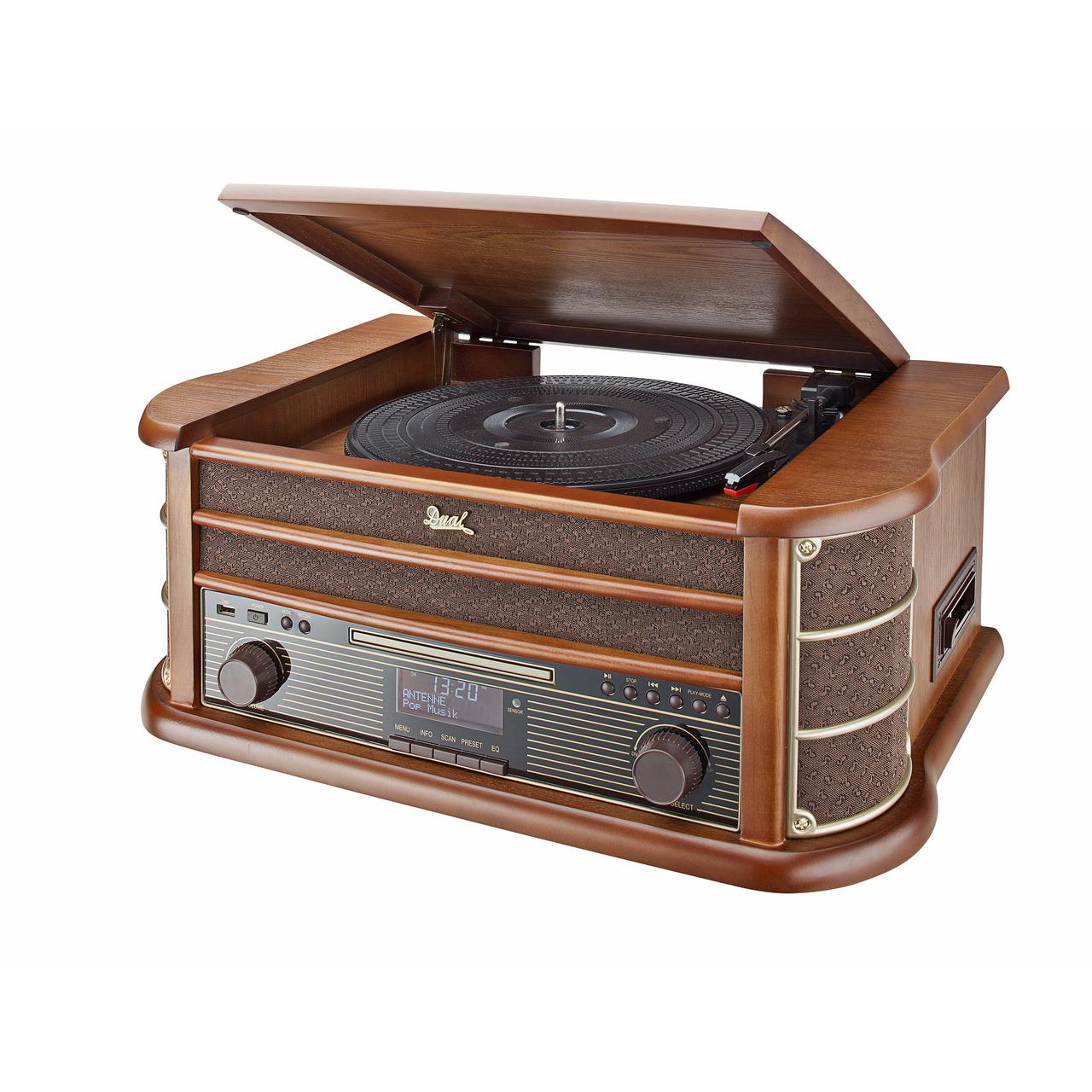 Dual Nostalgie-Stereo-Musikcenter NR 50 DAB- UKW-DAB+- USB- CD-Player- Kassettenlaufwerk