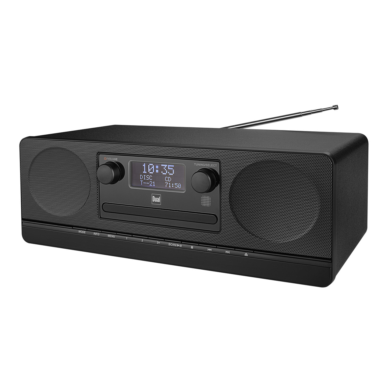 Dual Digitalradio DAB 420BT- UKW-DAB+- Bluetooth- USB- integrierter CD-Player