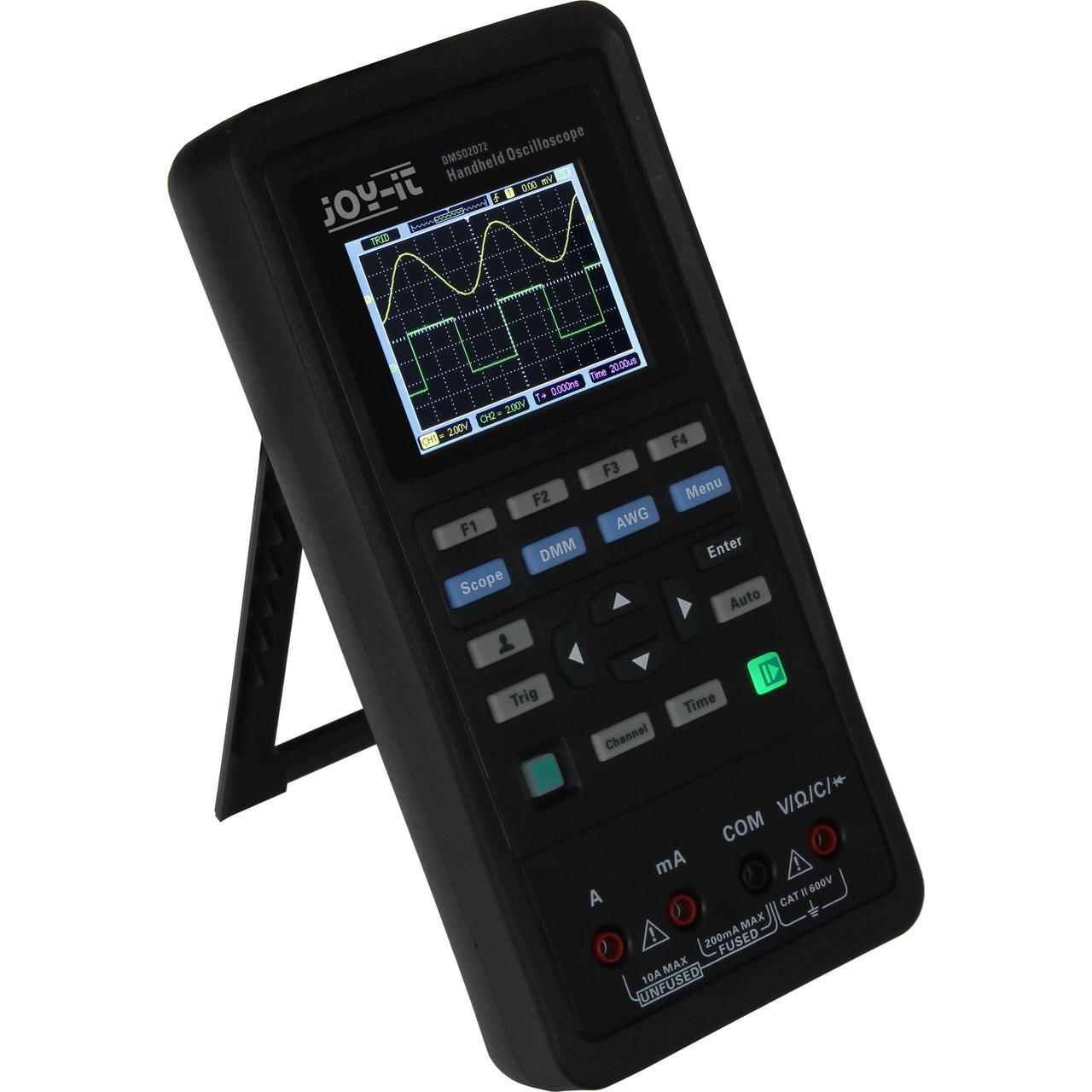 Joy-IT tragbares 3-in-1-Gerät JT-DMSO2D72 aus Oszilloskop- Signalgenerator und Multimeter