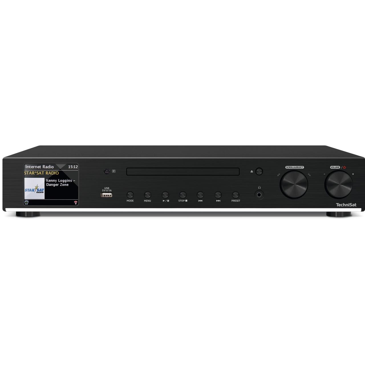 TechniSat Radio-Hi-Fi-Tuner DigitRadio 143 CD- DAB+-UKW-Internetradio- USB- Bluetooth- CD-Player