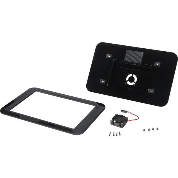 Joy-IT-Gehäuse für orig. 17,78-cm-Touchdisplay für Raspberry Pi 4, inkl. aktiven Kühler, schwarz
