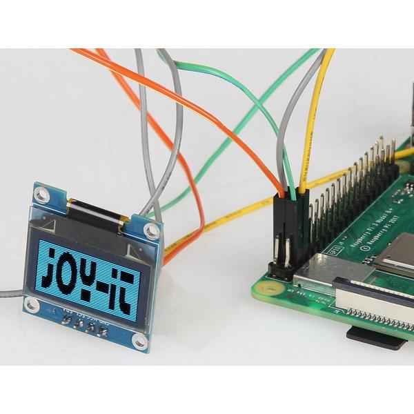 "Joy-IT 2,44-cm-(0,96"")-OLED-Display mit i2C, 128 x 64 Pixel"