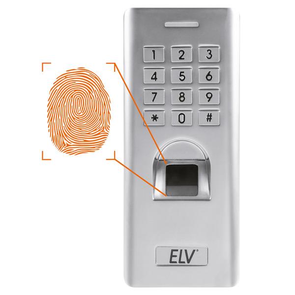 ELV Fingerprint-Codeschloss FP100, Metallgehäuse (Zinklegierung), IP66