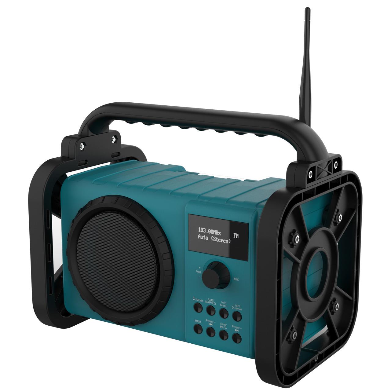 Soundmaster Baustellenradio DAB80- DAB+-UKW- Akku-Betrieb- 5-W-RMS- IP44